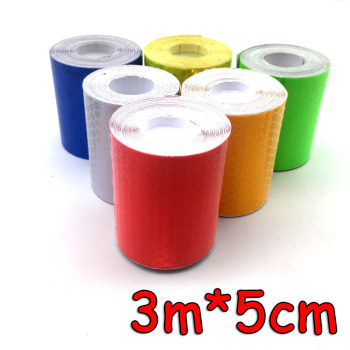 5cm * 3m Safety Mark Reflective Sticker Tape Car Shape Self-adhesive Warning Film