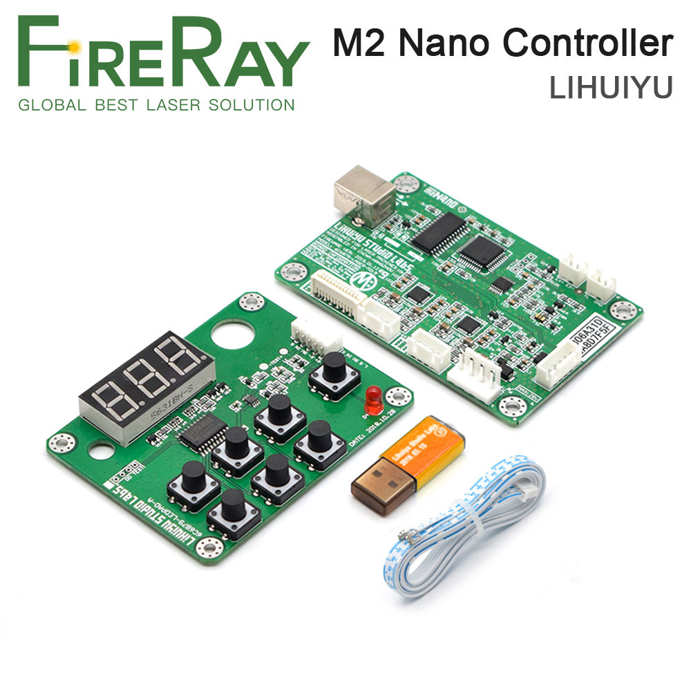 FireRay LIHUIYU M2 Nano Laser Controller Mother Main Board+Control Panel + Dongle B System Engraver Cutter DIY 3020 3040 K40