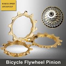 MTB Road Bike Bicycle Cassette Gold Cog 9 10 11 Speed Golden 11T 12T 13T Cogs Freewheel Part for ZTTO K7 Cassette 1pcs