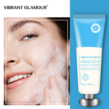 VIBRANT GLAMOUR Amino Acid Facial Cleanser Shrink Pores Removing Acne Oil Control Nourish Whitening Lift Firming Facial care 80g 1000g amino acid facial cleanser moss deeply cleaning buble foam makeup remove mild moisturizing whitening pores shrink
