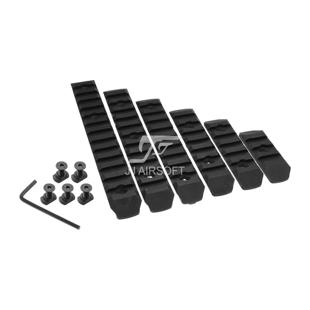 ACI 3 SLOT / 5 SLOT / 7 SLOT / 9 SLOT / 11 SLOT / 13 SLOT S LOT M LOK MLOK Polymer Rail Set 6 PC Pack (Black/Tan)|tan tanning|set 3|  - title=