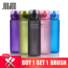 JOUDOO Water Bottle 560ML 400ML Plastic Drinkware Tour Outdoor Sport Leak Proof Seal Gourde Climbing Water Bottles 37