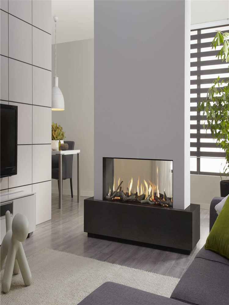30 Inch Real Fire Indoor Intelligent Smart Alcohol Alexa Wlan Double Sided Ethanol Insert Fireplace