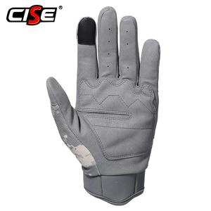 Image 2 - ACU kamuflaj dokunmatik ekran motosiklet sert Knuckle tam parmak eldiven Moto motosiklet Biker Motocross sürme koruyucu dişli erkek