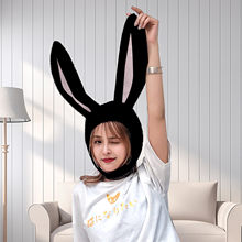 Chapeau 3D oreilles de lapin pour filles, Long, accessoire de Cosplay, pâques, mignon, chaud, en peluche, pour femmes et enfants
