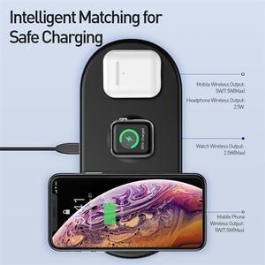 Image 2 - Baseus 3 in 1 Drahtlose Ladegerät Für iPhone 12 Samsung Schnelle Drahtlose Aufladen Pad Für Apple Uhr 5 4 3 für Airpods Chargepad
