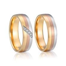 Anel de dedo do casamento do aniversário da joia do titanium do anel do dedo das meninas
