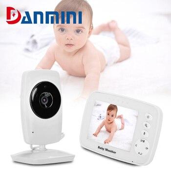 """DANMINI Monitor de bebé SM32 Video temperatura seguridad inalámbrica 3,2 """"Lcd niñera 2 hablar infrarrojos de visión nocturna Monitor"""
