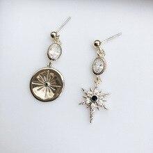 Retro Baroque  Zircon Needle Earrings drop star earrings for women indian jewelry vintage  luxury earrings цена