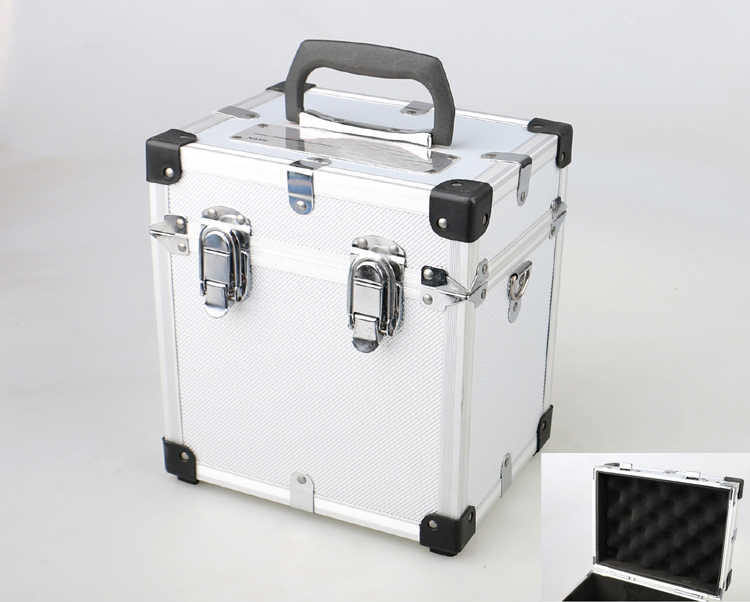 Aluminium Toolbox Multifunctionele Industriële Draagbare Camera Instrument Display Cosmetische Case Tool Box 230*215*165Mm