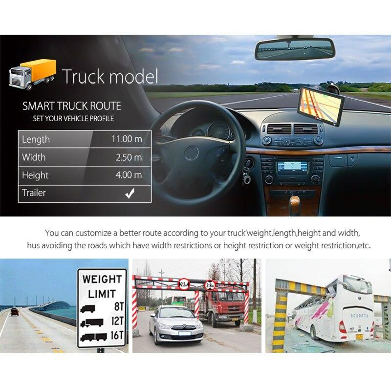 XGODY 7 Zoll Auto GPS Navigator 128MB 8GB FM Bluetooth Touchscreen GPS Navigation Reverse Kamera Sat Nav navitel Freies Europa Karte