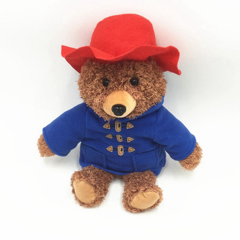 30cm Paddington Teddy Bear With Red Hat And Clothes Stuffed Animals Plush Toy