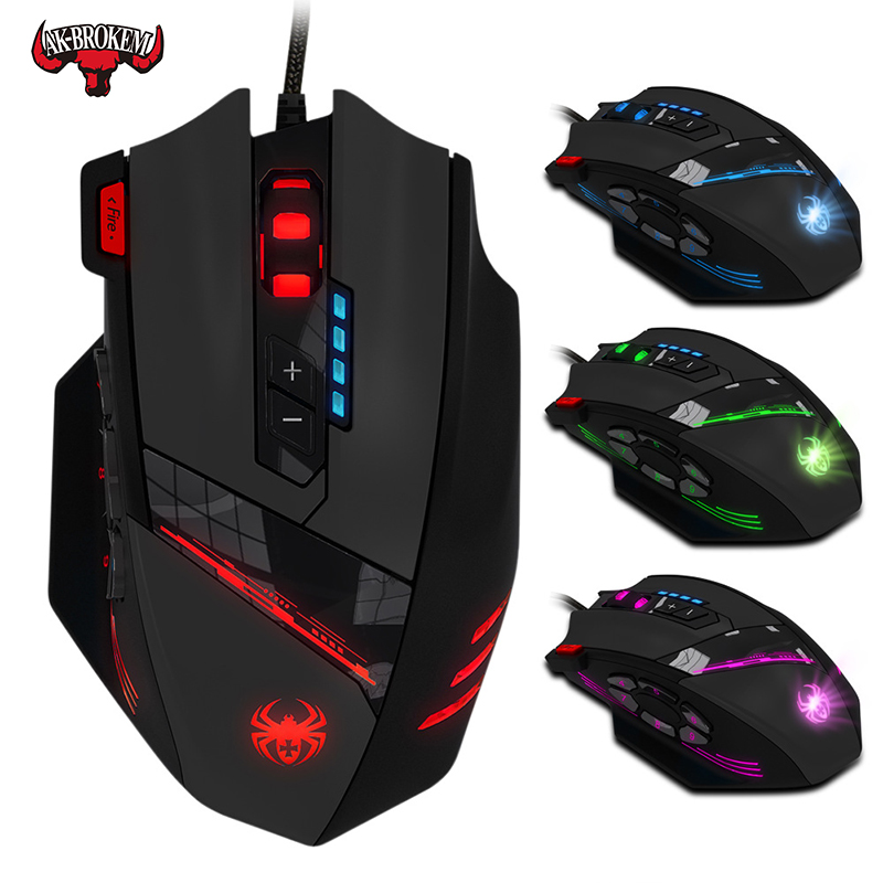 12 key programming mouse Jedi survival gun no rear seat macro 4000dpi  gaming mouse  wired gaming mouse With weighted weight-in Mice from Computer & Office