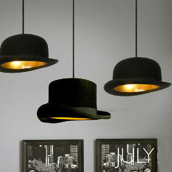 Modern Style chandeliers lamp Jeeves Wooster Top Hat Pendant Dome cap LED lamp copy aluminum or Original fluff image