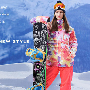 Women Snow jackets and pants Snowboarding clothing outdoor sports skiing suit sets Waterproof windproof Gsou Snow High Quality
