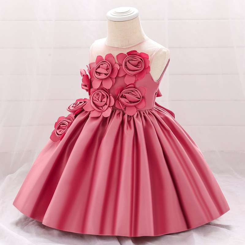 Summer baby girl <font><b>dress</b></font> newborn baby flower princess <font><b>dress</b></font> for baby <font><b>2</b></font> 1 year old <font><b>birthday</b></font> <font><b>dress</b></font> easter costume baby party <font><b>dress</b></font> image