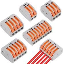 10/30/50 pièces Universel Connecteurs de fil de Câble enfichable Bornier Rapide Maison Solaire Compact fil Mini Connexion