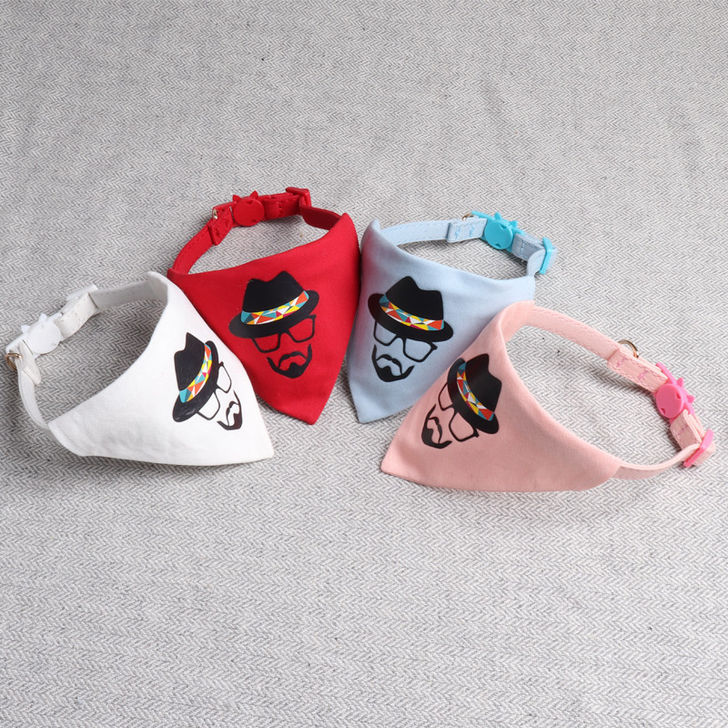 Jin Jie Te 2019 New Style Creative Pet Triangular Scarf Neck Ring Dog Triangular Binder Bibs