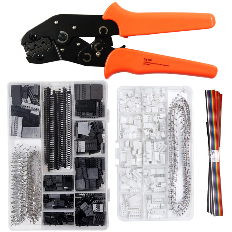 SN-28B Crimping Pliers set XH2.54 SM plug spring clamp pliers for JST ZH1.5 2.0PH 2.5XH EH SM Servo Connectors crimper tool kit(China)