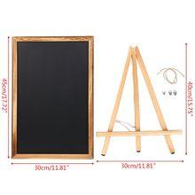 Desktop Memo Message Blackboard Easel Chalkboard Bracket Sketchpad Kids Writing Boards for Restaurant Sign C5AE