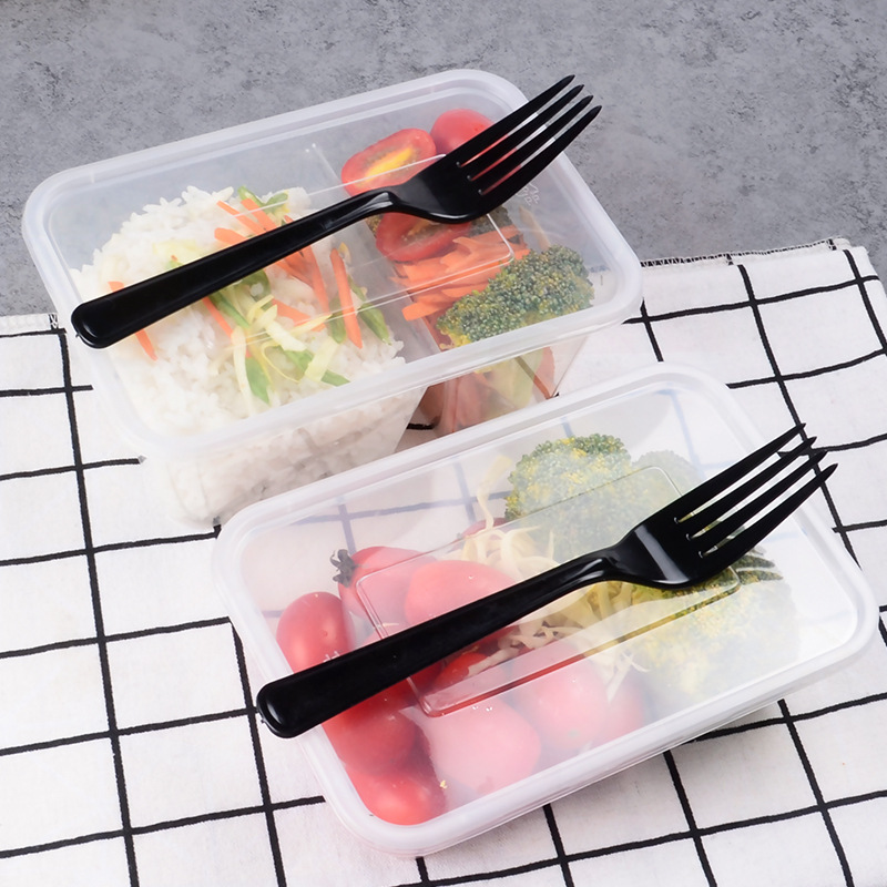 Disposable Lunch Box Thick Transparent Rectangular Plastic Fast Food Box Sealing Salad Fast Food Take-out Bale Box With Lid