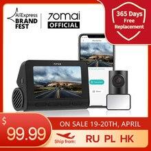 Видеорегистратор 70mai Dash Cam 4K A800S, камера для приборной панели, с GPS, ADAS, 4K, UHD, 24 часовым мониторингом парковки, передняя и задняя камеры, 140FOV