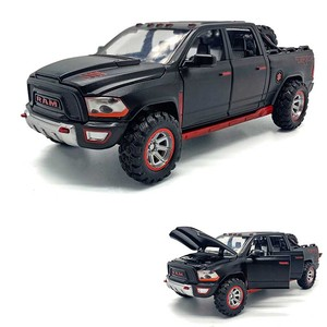1/32 New Arrival Ram Pickup Off Road Model Toy Car Alloy Die Cast Simulation Sound Light Pull Back Off-Road Toys Vehicle