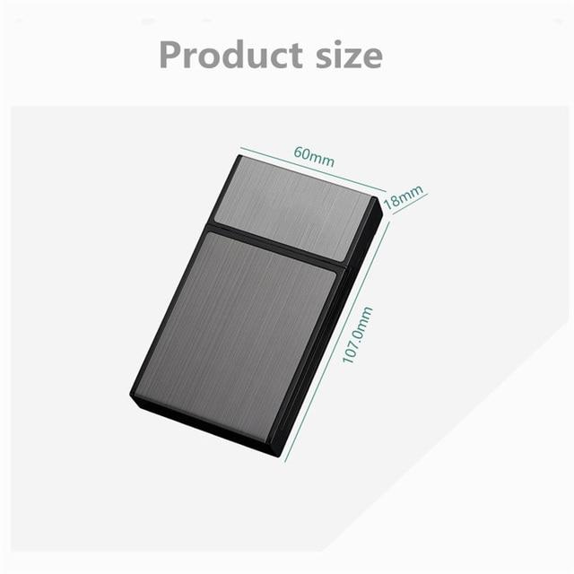 20 Sticks Cigarette Box Case Space Aluminum Slim Cigarette Holder Lighter Portable Cigarette Case Mens Gifts Smoking Accessories 6