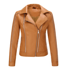 SWYIVY Womens Leather Jacket Motorcycle PU Women Winter Autumn Short Slim Fit Riet Female chaqueta mujer