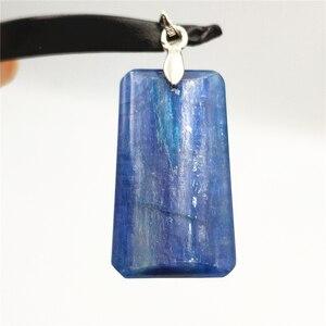 Image 5 - Natürliche Blau Kyanit Katze Auge Wirkung Halskette Anhänger Glück 925 Silber Frauen Männer Liebe Jahrestag Geschenk Mode Anhänger AAAAA