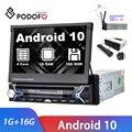 Автомагнитола Podofo, универсальный автомобильный мультимедийный плеер на Android 10,0 с GPS-навигацией, FM, AM