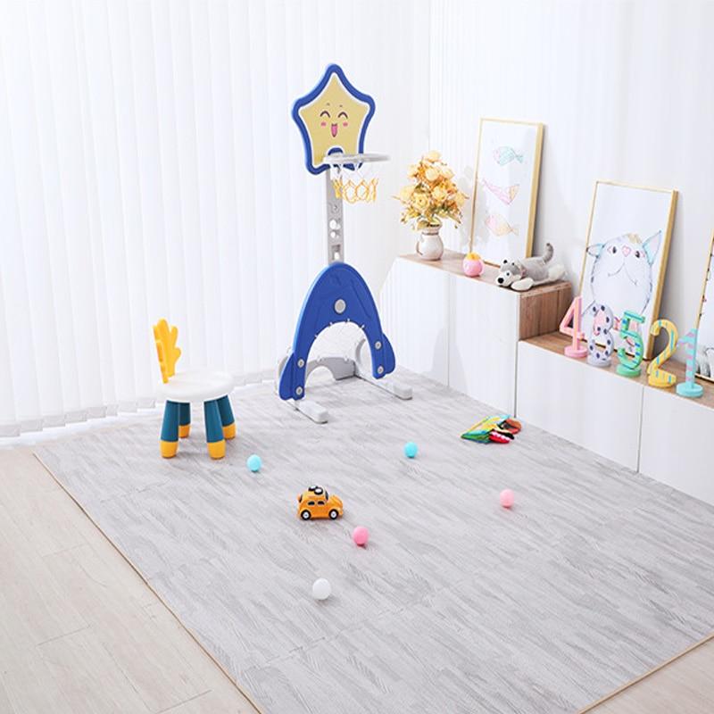 Wood Grain Puzzle Mat Baby Foam Play Splicing Bedroom Thicken Soft Modern Floor Kids Rug Living Room Crawling Carpet 7