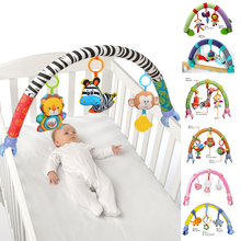 Cute Newborn Rattles Baby Toys Infant Stroller Car Clip Lathe Hanging Seat & Stroller Toys Mobile Educational Toys 0 12 Months