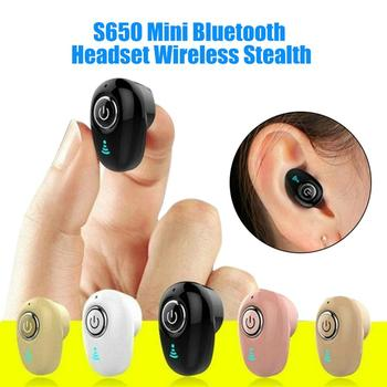 50mA S650 Portable Mini Wireless Stereo Bluetooth 4.1 Sports Earphone In-Ear Earbud Accessories Bluetooth Wireless Earphone s650 portable mini wireless stereo bluetooth 4 1 sports earphone in ear earbud mini ture wireless sports headset for phone
