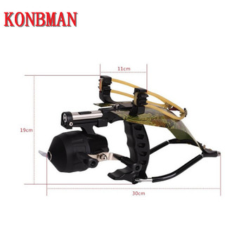 Fishing Slingshot for Hunting Catapult with With Fishing Reel Dart Outdoor Shooting Slingshots High Quality