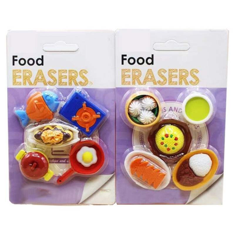 Japanese Sushi Stationery Eraser For Personal Collection School Supplies For Children Gift Eraser Baby Toy  2 Boxes Per Lot
