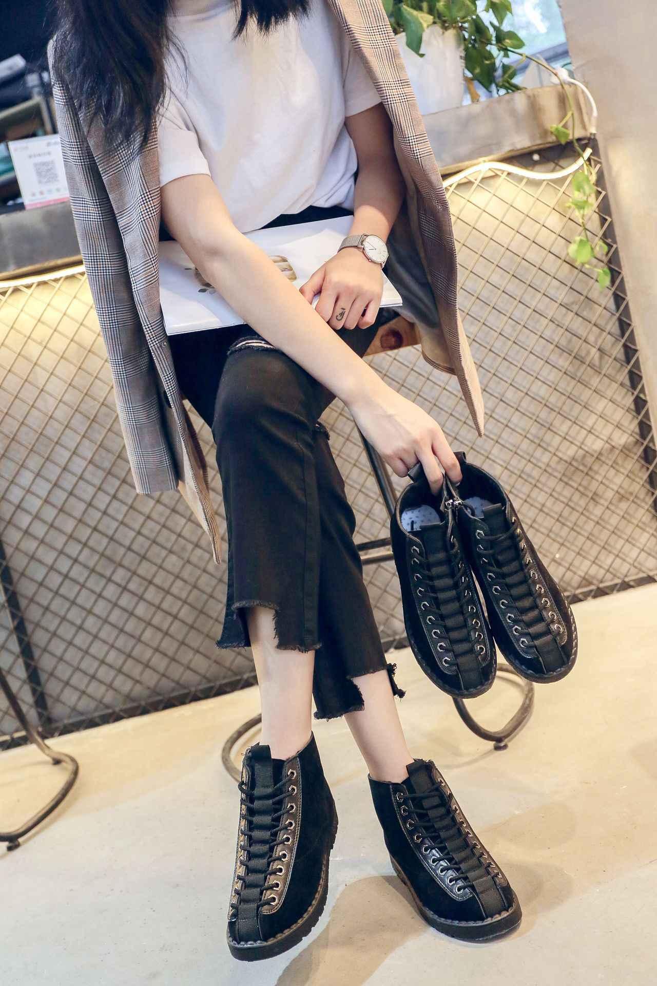 Fujin yeni moda çizmeler kadınlar 2020 kış ayakkabı kürk kış kar botları peluş Antiskid alt sıcak tutmak su geçirmez botlar artı boyutu