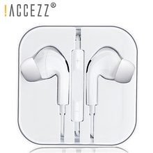 !ACCEZZ HiFi 3.5mm Earphone With Microphone Voice Call Listen Music For Samsung iphone Huawei Xiaomi ipad Tablet In-ear Earphone accezz 3 5mm jack in ear earphone for iphone 5 6 ipad xiaomi samsung universal hifi sport earbuds wired control with microphone