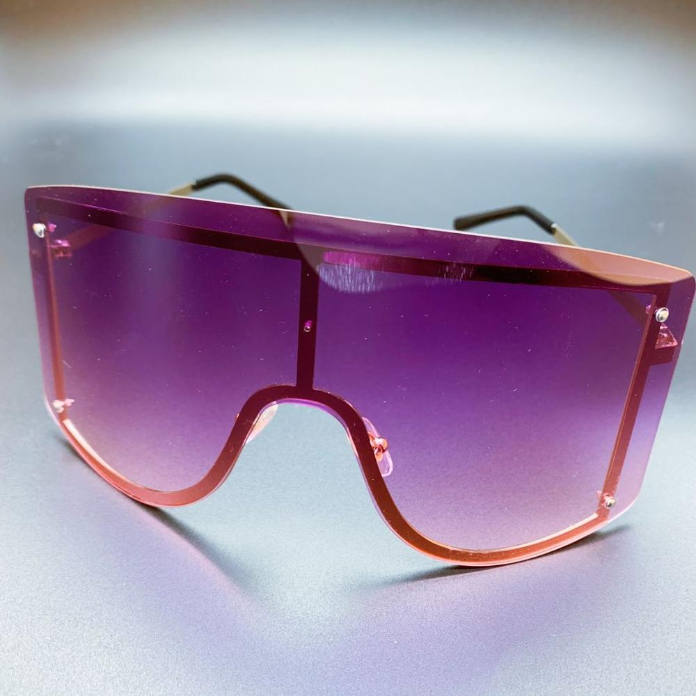 Nauq 2020 New One Piece Oversized Women Sunglasses Fashion Gradient Goggles Colorful Female Sun Glasses Large Frame Eyewear