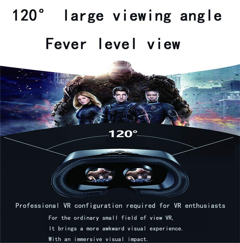 VRG PRO Virtual Reality VR Glasses Full Screen Visual Wide Angle 120 Degrees VR Glasses for 5 To 7 Inch Smartphone Devices