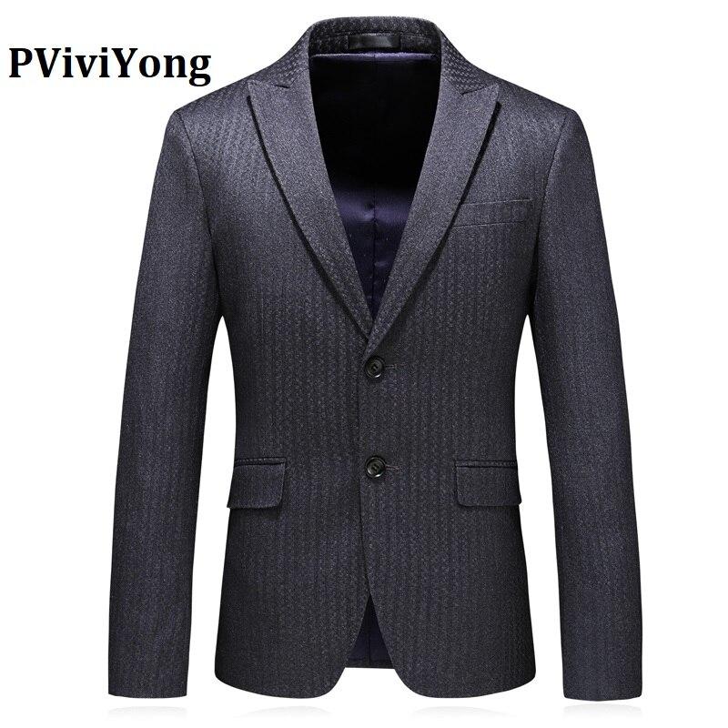 PViviYong Brand 2019 High Quality Men's Suit Top,suit Jacket Men Business  Fashion  Blazer Men Plus-size S-5XL XZ6724