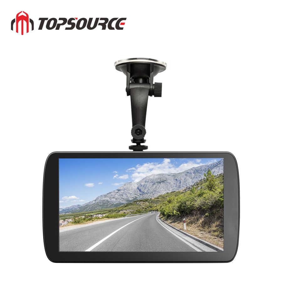 TOPSOURCE 車 DVR 9 インチのアンドロイド 6.0 1 グラム/16 グラムダッシュカムフル Hd 1080P ビデオレコーダーカメラ GPS トラック車両ナビゲーション