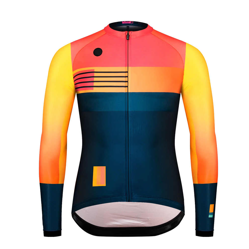 2019 thermal fleece best quality Brushing pro aero cycling jersey long sleeve biyclcle cycling top race fit thermal cycling wear