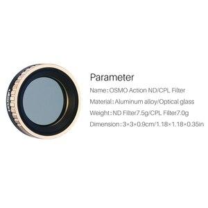 Image 4 - ホット Ulanzi CPL ND フィルター dji Osmo アクション ND8 ND16 ND32 ND64 光学ガラスアクションカメラレンズフィルター osmo ためアクション