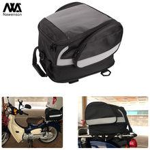 Motocicleta cauda saco de armazenamento traseiro capacete saco tronco universal para moto com rack de bagagem