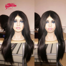 Custom Wig Closure-Wigs Lace-Frontal Transparent Virgin Brazilian Straight Remy HD 250%Density