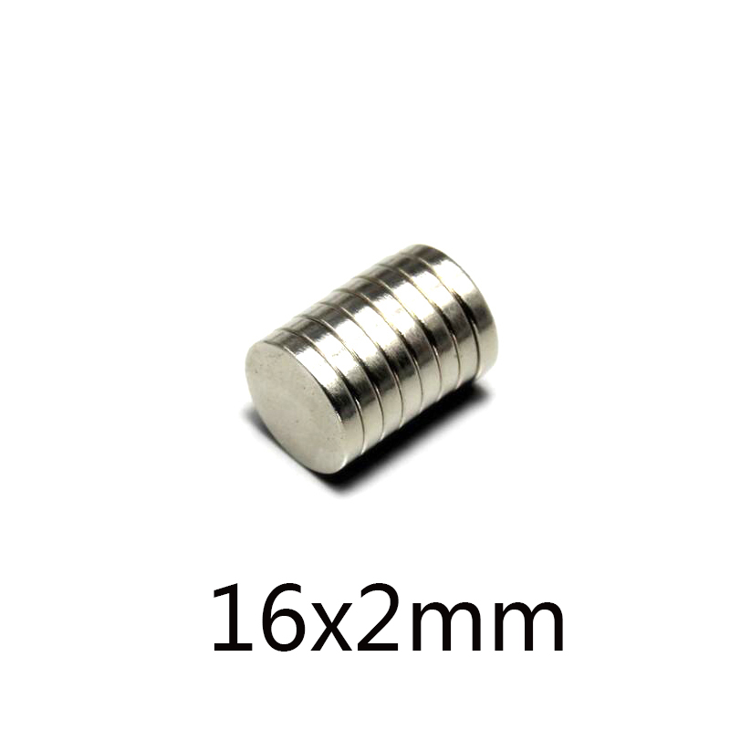 20/<font><b>50</b></font>/100pcs <font><b>16x2</b></font> mm Powerful Magnets 16mmx2mm Neodymium Magnet 16x2mm Fridge Permanent NdFeB Strong Magnetic 16*2 mm image