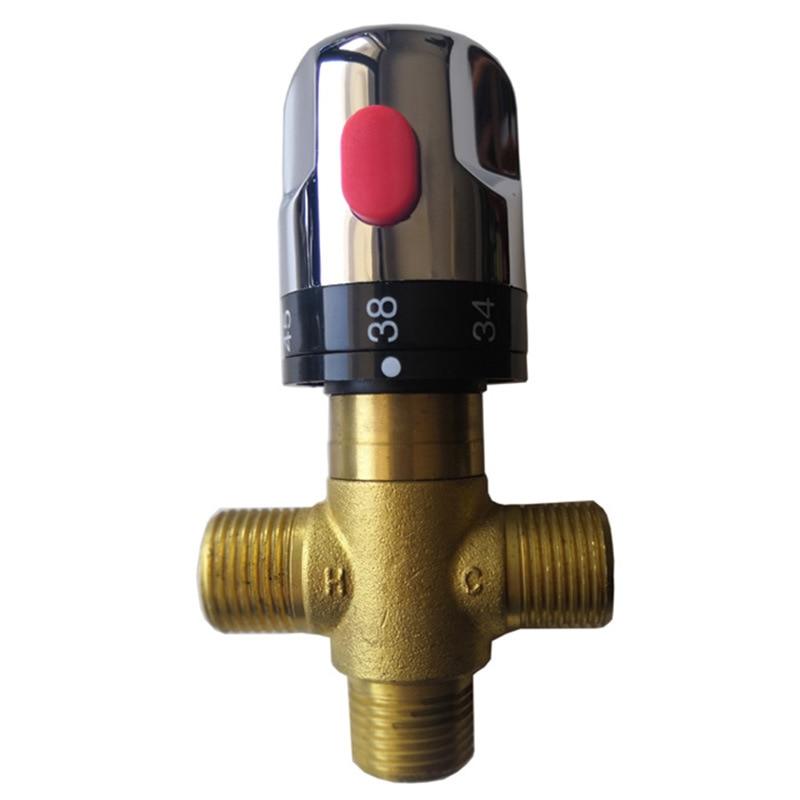 Термостатический смесительный клапан из латуни с серебряным покрытием смеситель для ванной комнаты контроль температуры термостатический клапан обустройство дома|Картриджи для смесителей|   | АлиЭкспресс