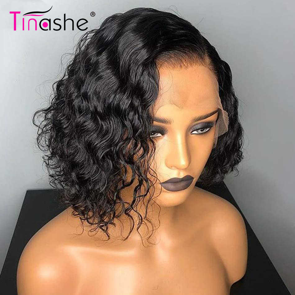 Tinashe, corte Pixie, peluca de encaje, peluca corta rizada frontal de encaje Bob, pelucas de cabello humano frontal de onda de encaje brasileño, peluca con cierre de encaje 4x4