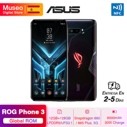 Global ROM ASUS ROG PHONE 3 Snapdragon 865 / 865 Plus 5G Moble Phone 12GB 128GB 6.59'' 144Hz AMOLED 6000mAh Game Phone NFC
